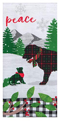 Kay Dee Designs - Holiday Hounds Peace, Dual Purpose Dish Towel, 16 x 26