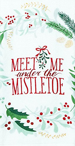 kay dee designs meet me at mistletoe christmas terry dish towel - Mistletoe Christmas