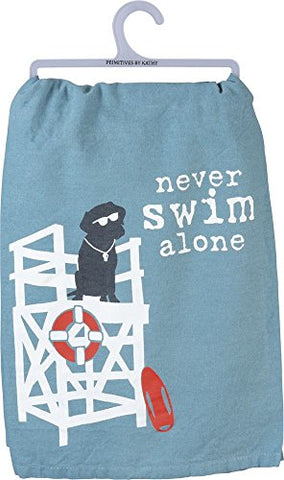 Primitives by Kathy Dish Towel - Never Swim Alone