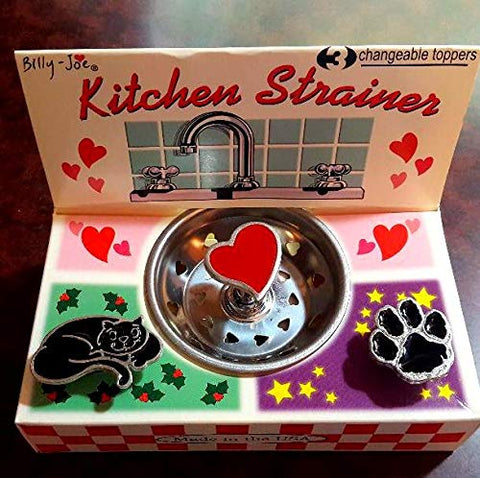 Cat Lover Set Kitchen Enamel Stainless Steel Sink Strainer - 3 Icons