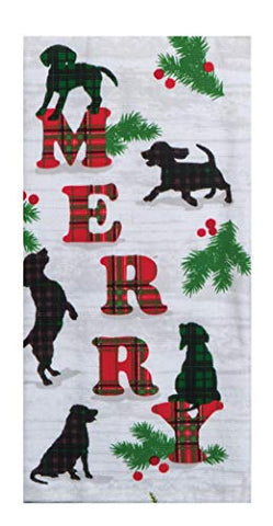 Kay Dee Designs - Holiday Hound Dogs Dual Purpose Dish Towel, 16 x 26