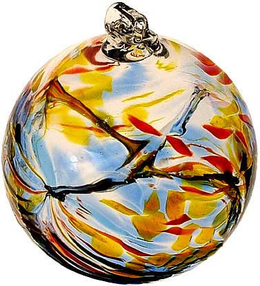 "Kitras Art Blown Glass 6"" Birthstone Birthday Ball - November"