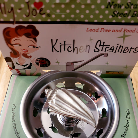 Pewter Conch Shell Kitchen Stainless Steel Sink Strainer