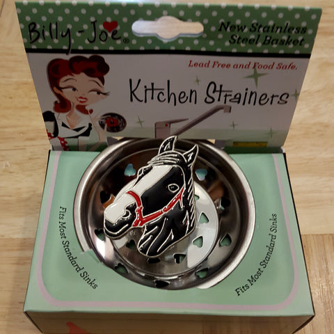 Enamel Horse Head Stainless Steel Kitchen Sink Strainer