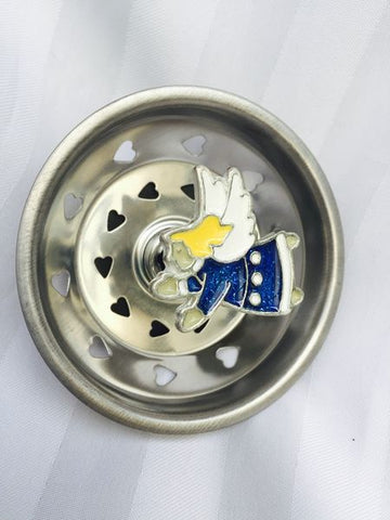 Enamel Kitchen Stainless Sink Strainer Holiday Angel