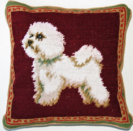 Dog Lover Gifts Bichon Frise Needlepoint Pillow For The Love Of Dogs Shopping For A Cause