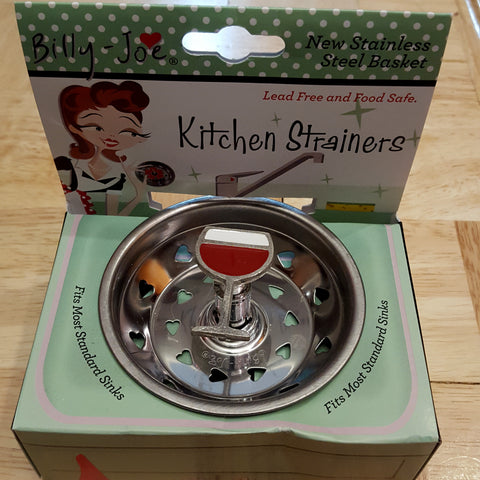 Enamel Red Wine Glass Stainless Steel Sink Strainer