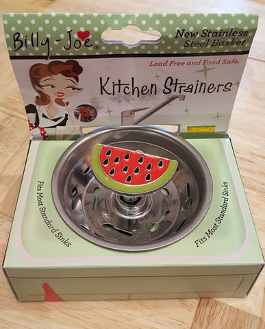 Enamel Watermelon Slice Stainless Steel Sink Strainer