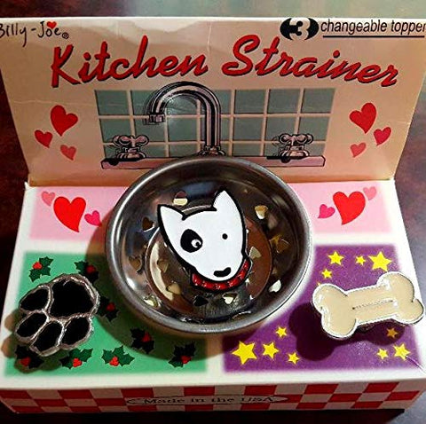 Dog Lover Set Kitchen Enamel Stainless Steel Sink Strainer - 3 ICONS