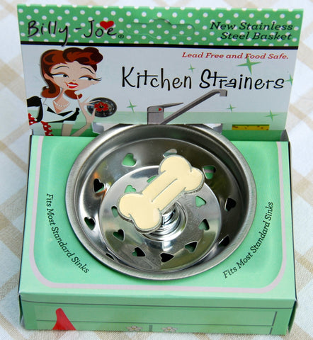 Enamel Dog Bone Stainless Steel Sink Strainer