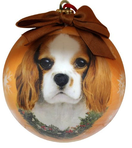 Blenheim King Charles Cavalier Christmas Snowflake Shatterproof Ball Ornament