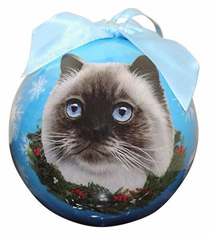 Himalayan Cat Christmas Ornament Shatterproof Snowflake Ball