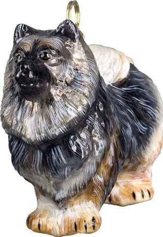 The Pet Set Keeshond Glass Christmas Ornament - Handcrafted in Europe by Joy to the World Collectibles