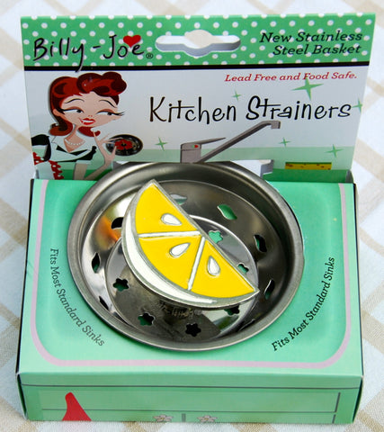 Enamel Lemon Slice Stainless Steel Sink Strainer