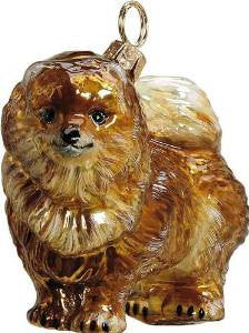 The Pet Set Pomeranian Glass Christmas Ornament - Handcrafted in Europe by Joy to the World Collectibles