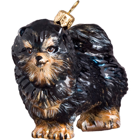 The Pet Set Pomeranian Dog Glass Christmas Ornament - Handcrafted in Europe by Joy to the World Collectibles