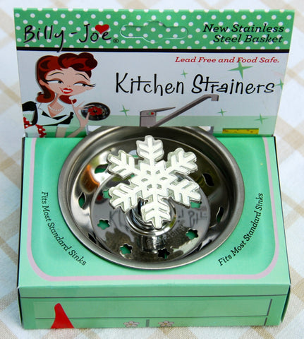 Enamel Winter Snowflake Stainless Steel Sink Strainer