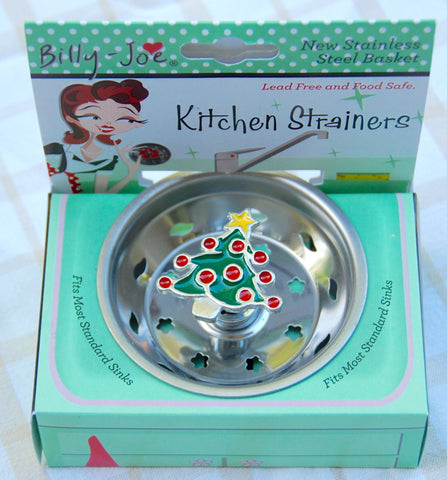 Enamel Christmas Tree Stainless Steel Sink Drainer