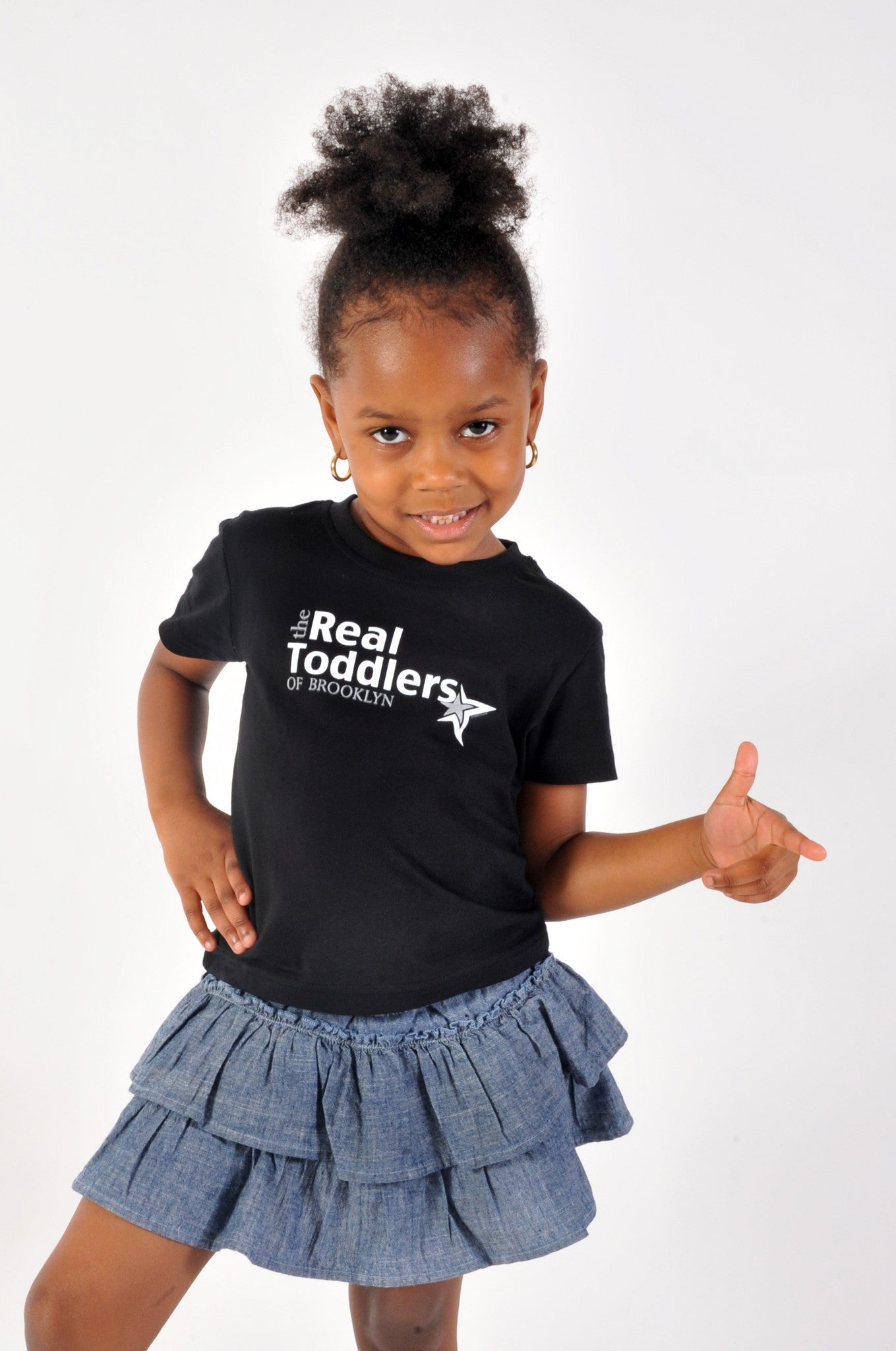"""The Real Toddlers of BROOKLYN"" T Shirt For Toddlers and Young Girls"