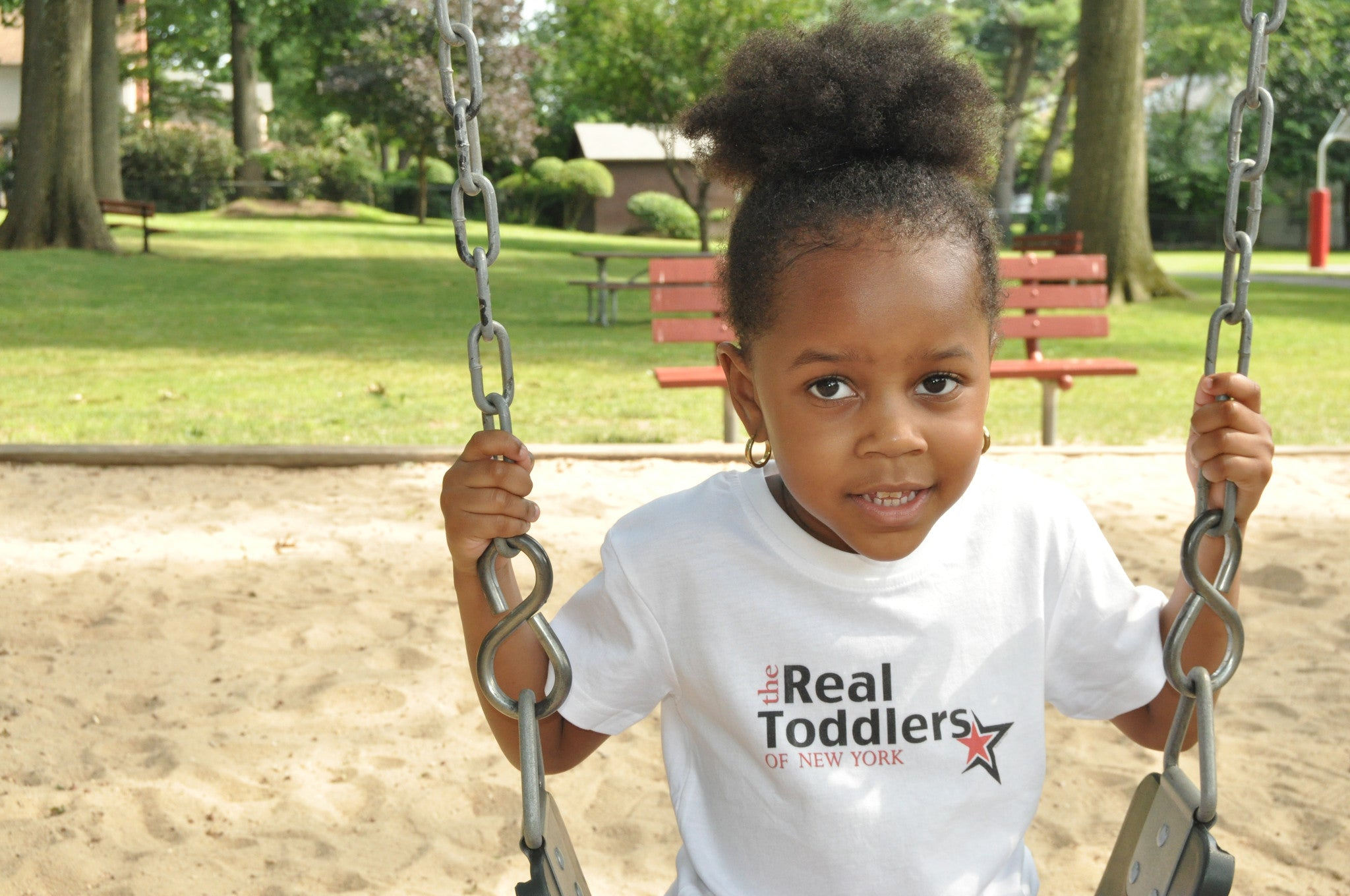 """The Real Toddlers of NEW YORK"" T Shirt For Toddlers and Young Girls"