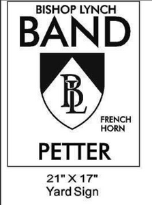 Band - Yard Sign