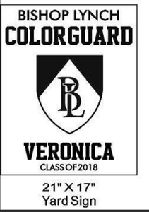 Colorguard - Yard Sign