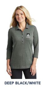 Women's 3/4 Sleeve Coastal Cotton Polo