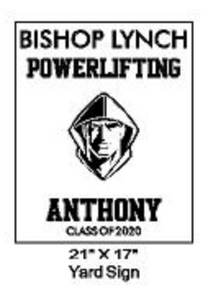 Powerlifting - Yard Sign