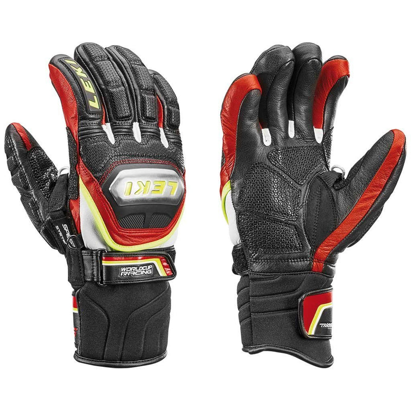 Leki World Cup Racing Ti S Glove Black/Red/White/Yellow