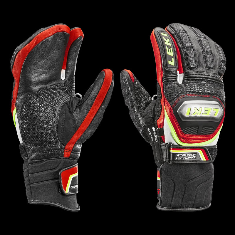 Leki World Cup Racing Ti S Lobster Mitten Black/Red/White/Yellow
