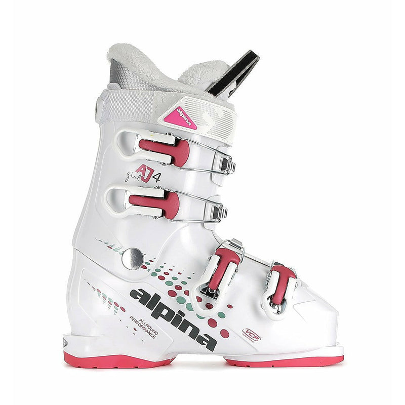 Alpina AJ4 Girl Junior Ski Boots White