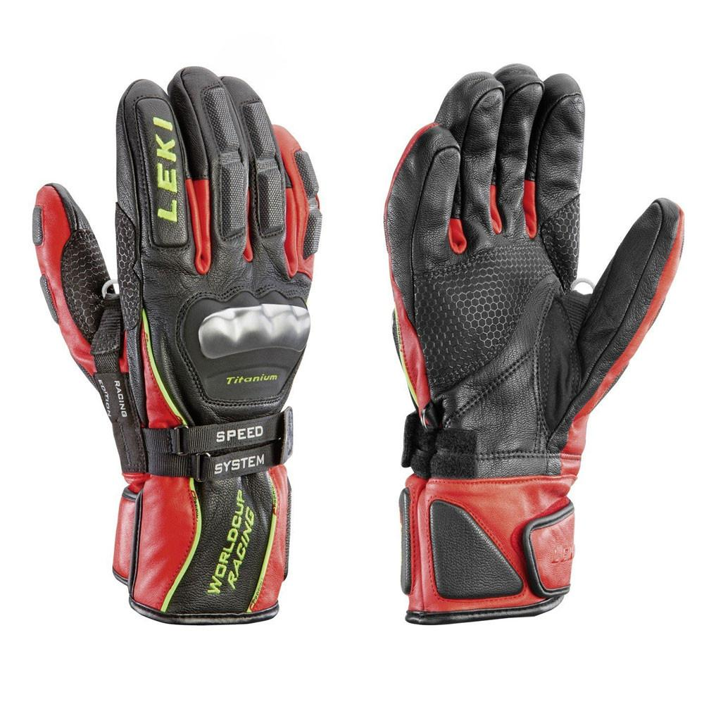 Leki World Cup Racing Ti S Speed Black/Red Gloves