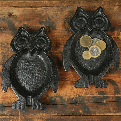 Owl Dish Black Cast Iron - shopalmostheaven