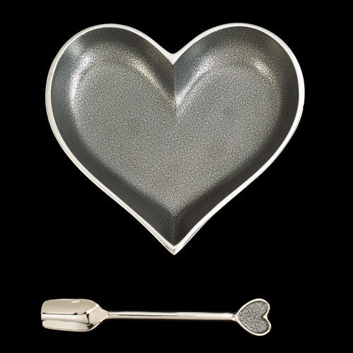 Lil Silver Heart with Silver Spoon - shopalmostheaven