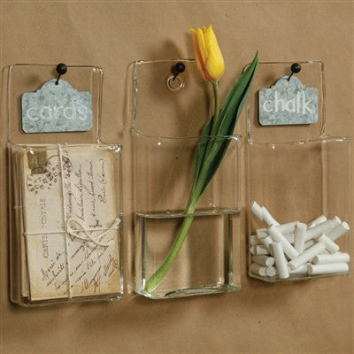 Glass Wall Pockets - shopalmostheaven