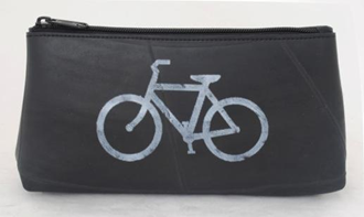 Cosmetic Bag of Recycled Bicycle Tires - shopalmostheaven