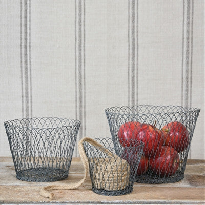 Tulle Wire Basket, Set of 3 - shopalmostheaven