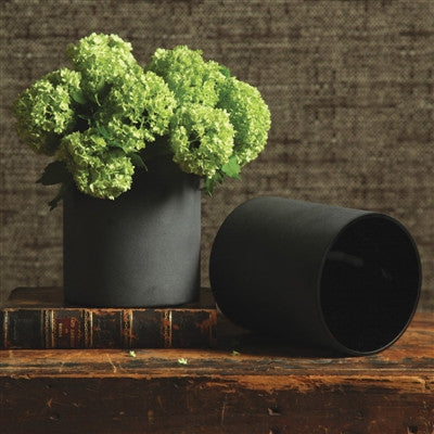 Black Frosted Vase - shopalmostheaven