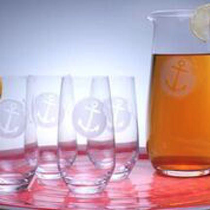 Anchorage Iced Tea Pitcher and Glasses - shopalmostheaven