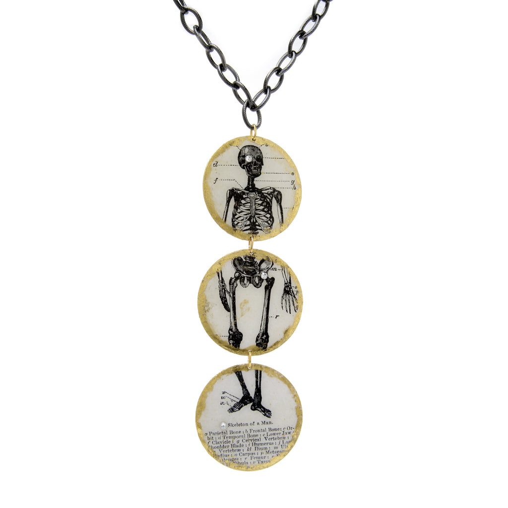 3 Part Skeleton Necklace - shopalmostheaven