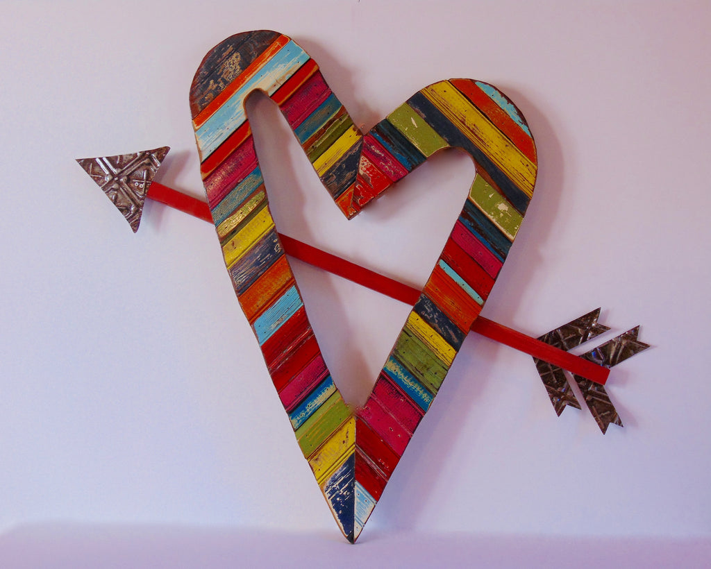 Heart w/ Arrow Wall Art - shopalmostheaven - 2