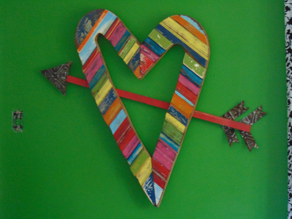 Heart w/ Arrow Wall Art - shopalmostheaven - 4