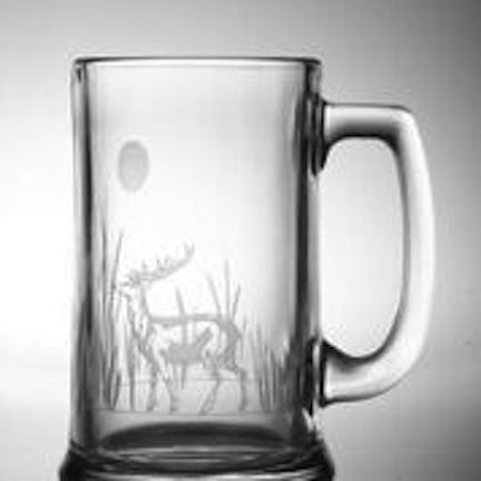 4 Deer Etched Beer Mugs - shopalmostheaven