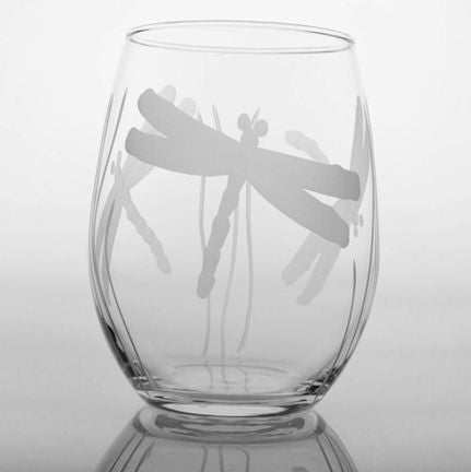 4 Wine Tumblers Dragonfly - shopalmostheaven