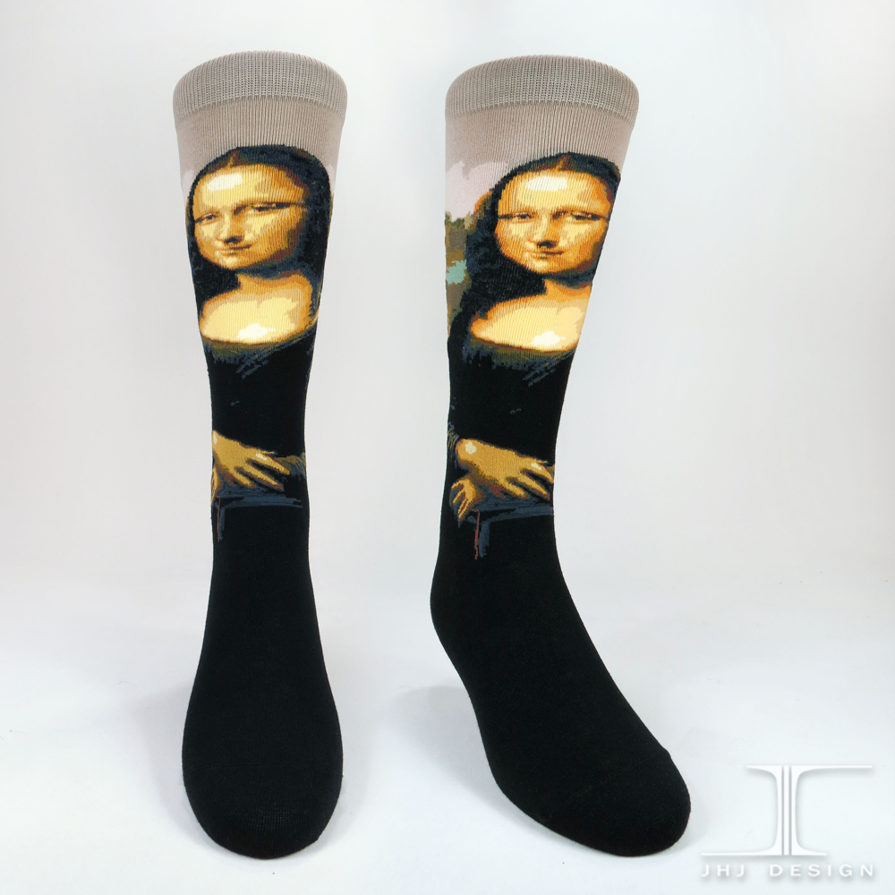Mona Lisa Men's SOCKS - shopalmostheaven