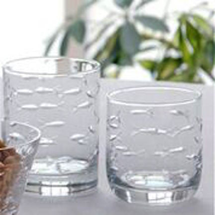4 School of Fish On the Rocks Glasses - shopalmostheaven