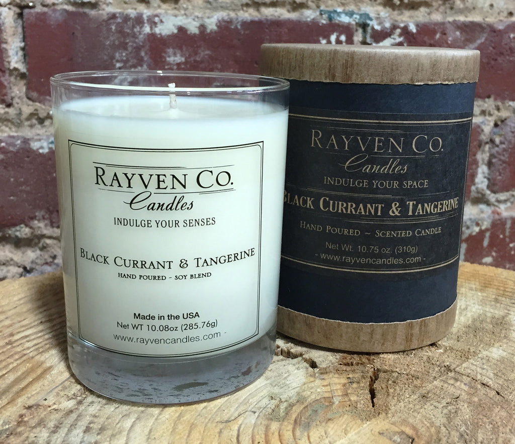 Scented Candle, Black Currant & Tangerine Candle - shopalmostheaven