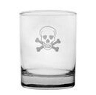 4 Crossbone & Skull On the Rocks Glasses - shopalmostheaven