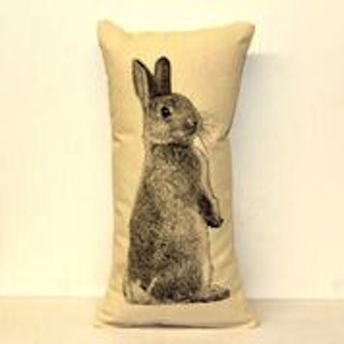 Bunny Screenprint Pillow - shopalmostheaven