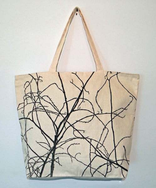 Screen Printed Twig Bag - shopalmostheaven